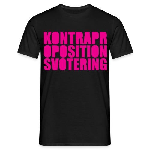 Kontrapropositionsvotering - Svart/Rosa - T-shirt herr