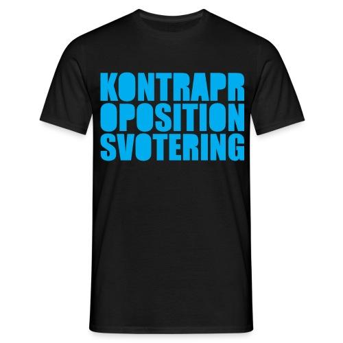 Kontrapropositionsvotering - Svart/Turkos - T-shirt herr