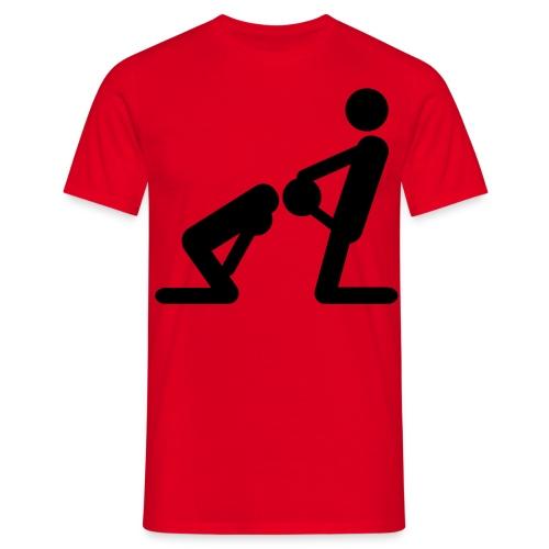 Stickman Blowjob - Red - Men's T-Shirt