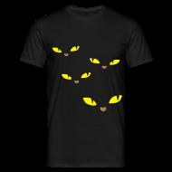 T-shirts ~ Mannen T-shirt ~ Yellow eye catcher t-shirt