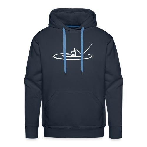 Pêcheur calme - Sweat-shirt à capuche Premium pour hommes