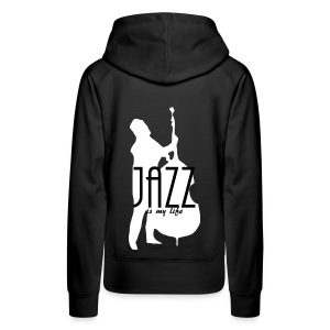 Sweat-shirt à capuche femme jazz is my life - Sweat-shirt à capuche Premium pour femmes
