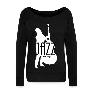Pull femme jazz is my life - Pull Femme col bateau de Bella