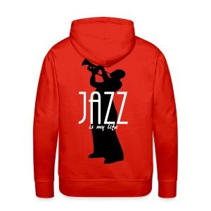 Sweat-shirt à capuche homme jazz is my life - Sweat-shirt à capuche Premium pour hommes