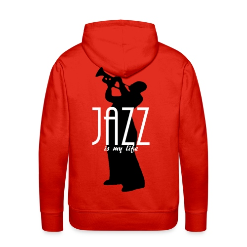 Sweat-shirt à capuche homme jazz is my life - Sweat-shirt à capuche Premium pour hommes