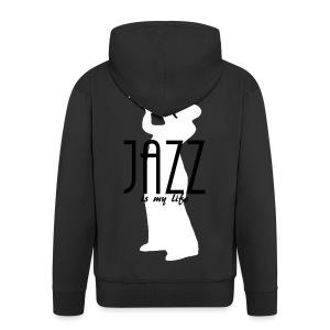 Veste à capuche homme jazz is my life - Veste à capuche Premium Homme