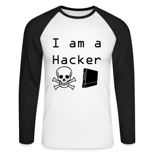 Je suis un hackeur - T-shirt baseball manches longues Homme