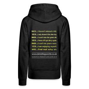 Detailing World 'Questions' Women's Hooded Fleece Top - Women's Premium Hoodie
