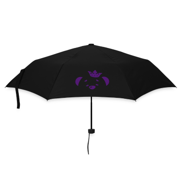 A bear with crown  Umbrellas