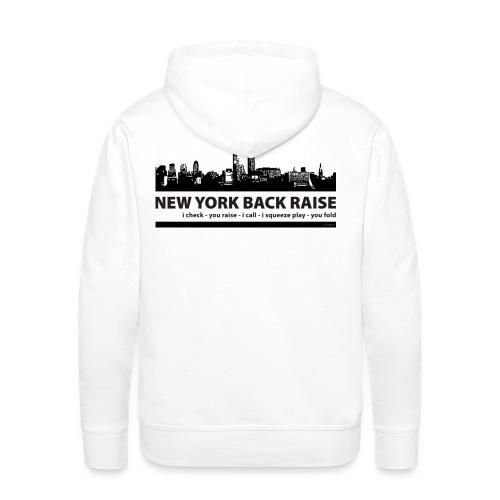 Sweat capuche poker addiction new york - Sweat-shirt à capuche Premium pour hommes