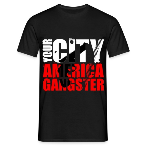 T shirt homme your city america gangster - T-shirt Homme