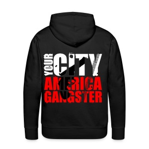 Sweat-shirt à capuche homme your city america gangster - Sweat-shirt à capuche Premium pour hommes