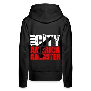 Sweat-shirt à capuche femme your city america gangster - Sweat-shirt à capuche Premium pour femmes