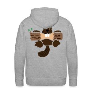 t-shirt biber bieber nager fleissig otter burg natur tier zähne - Männer Premium Hoodie