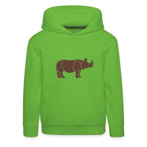 t-shirt nashorn horn rhinozeros afrika tier wild serengeti safari bunt farben landkarte lustig fröhlich tiershirt t-shirt tiermotiv - Kinder Premium Hoodie