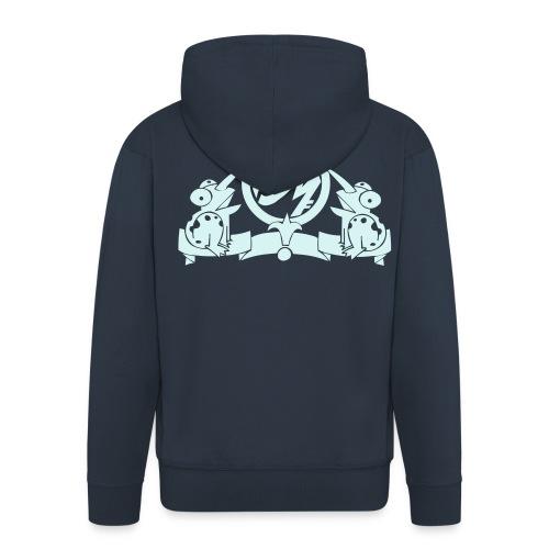 Puppetmastaz Wappen Hooded Jacked Blau/Hell Grau - Men's Premium Hooded Jacket