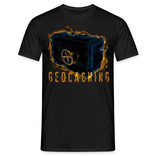 Geocaching Ammobox dunkel - Männer T-Shirt