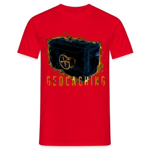 Geocaching Ammobox rot - Männer T-Shirt