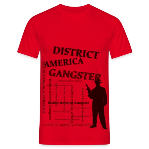 T shirt homme district america gangster - T-shirt Homme