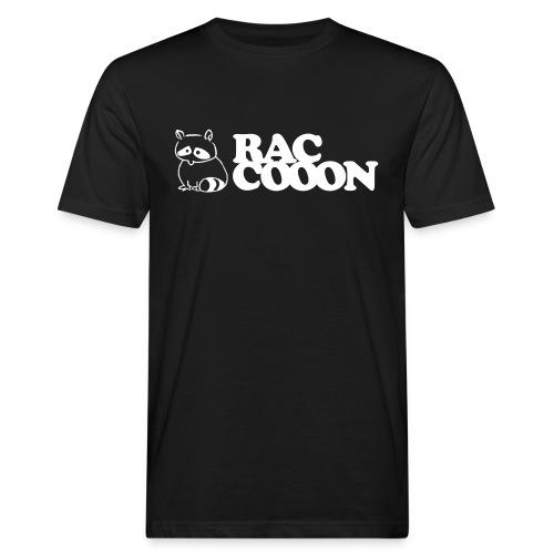 Raccooon Logo - Männer Bio-T-Shirt