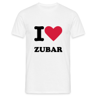 T-Shirts ~ Men's T-Shirt ~ I Love Zubar