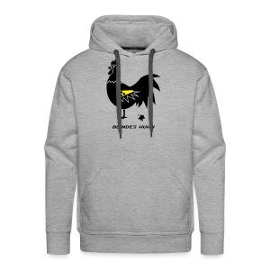 t-shirt blindes huhn hahn gockel henne vogel hühner blind gackern ei - Männer Premium Hoodie