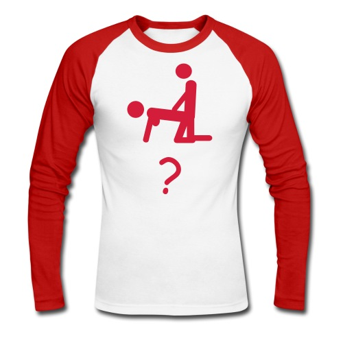 SEX? - Men's Long Sleeve Baseball T-Shirt