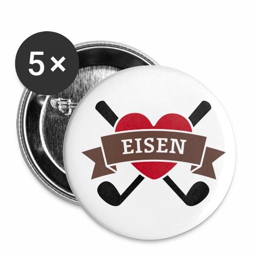 Eisen & Herz für Golfer - Buttons klein 25 mm