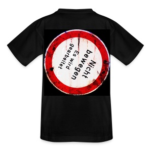 Nicht bewegen, es wird gearbeitet (auf dem Rücken) - Teenager T-Shirt