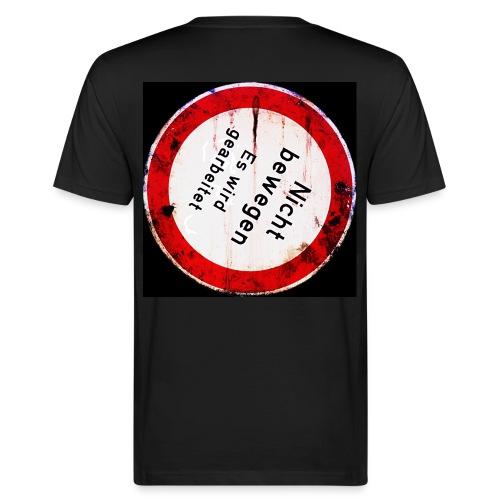 Nicht bewegen, es wird gearbeitet (auf dem Rücken) - Männer Bio-T-Shirt