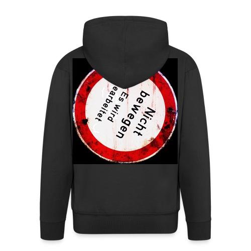 Nicht bewegen, es wird gearbeitet (Hinten) - Männer Premium Kapuzenjacke