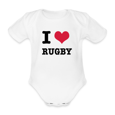 I Love Rugby Baby Bodysuits
