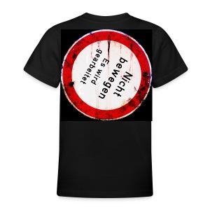 Nicht bewegen, es wird gearbeitet (Hinten) - Teenager T-Shirt