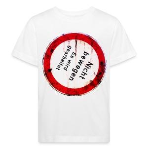 Nicht bewegen, es wird gearbeitet (Vorne) - Kinder Bio-T-Shirt