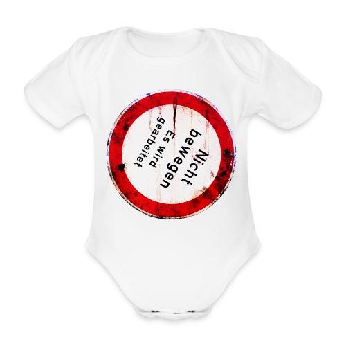 Nicht bewegen, es wird gearbeitet (Vorne) - Baby Bio-Kurzarm-Body