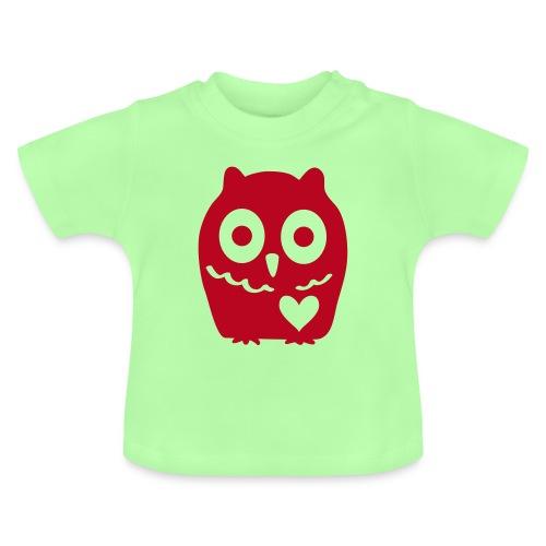 Uhu mit Herz - Baby T-Shirt