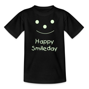 Happy Smileday - Glow In The Dark - Teenage T-shirt