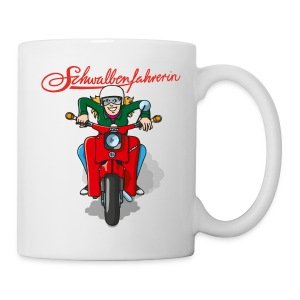 Schwalbenfahrerin Comic Tasse - Tasse