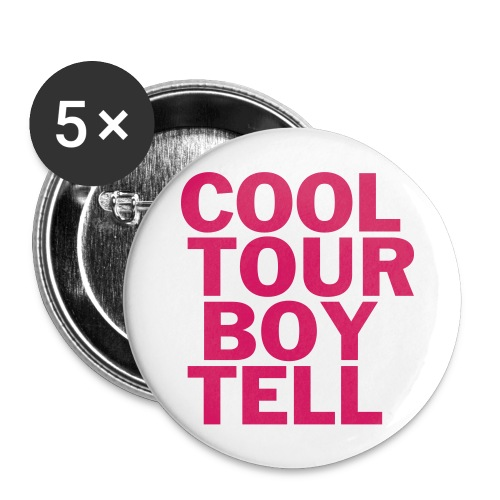 Cool Tour Boy Tell Button - Buttons groß 56 mm (5er Pack)