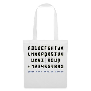 Braille-on-Black-Alphabet - Tasche - Stoffbeutel