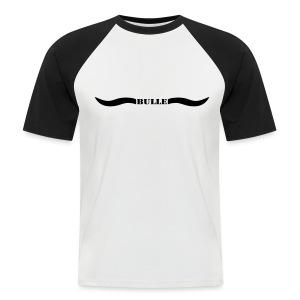tier shirt bulle bullig polizei ochse horn hörner rodeo evil augen büffel bison cowboy wilder westen - Männer Baseball-T-Shirt