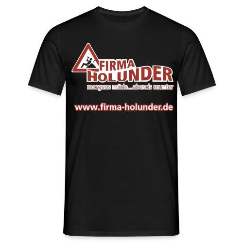 Holunder Bandshirt Classic Schwarz - Männer T-Shirt