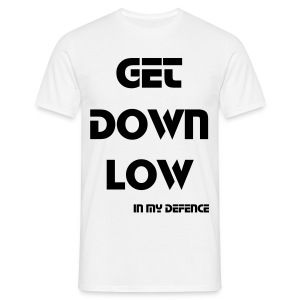 Get Down Low White Mens - Men's T-Shirt