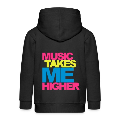 Sweat music takes me higher - Veste à capuche Premium Enfant