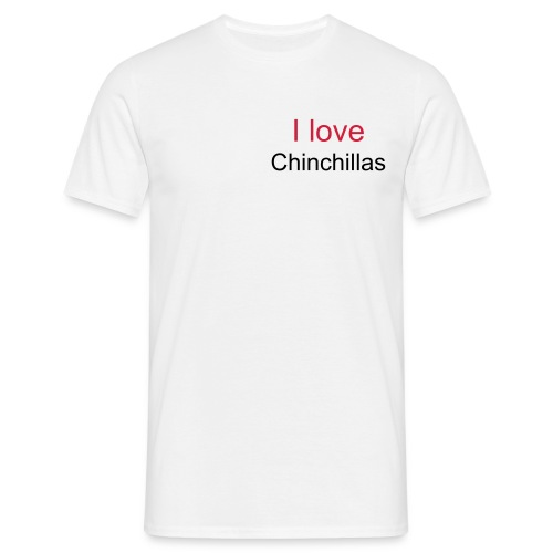 I love Chinchillas 2 - Männer T-Shirt