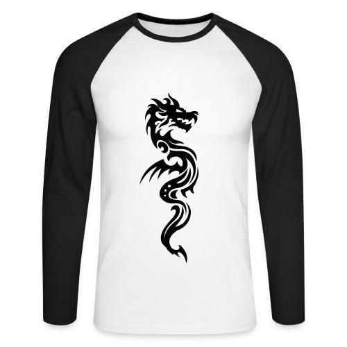 Herrenshirt Dragon - Männer Baseballshirt langarm