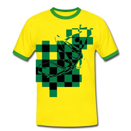 Jamaican contrast tee - Men's Ringer Shirt
