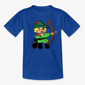 Kid Billy featured as Robin Hood archer - Teenage T-shirt