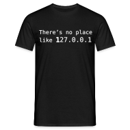 Tee shirts ~ Tee shirt Homme ~ There's no place like 127.0.0.1/home noir