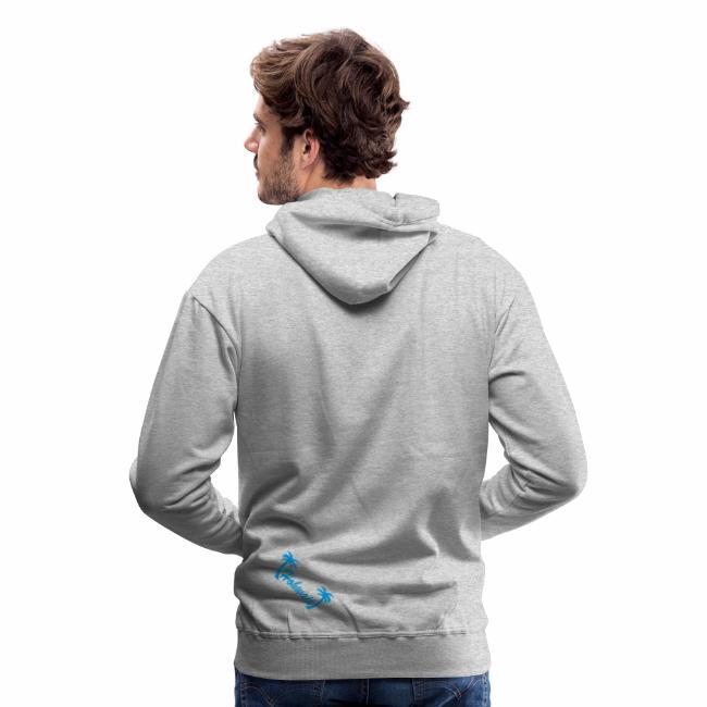 timeless design 1ebd3 0c0d4 grauer Herren Kapuzenpullover, Hohwaii Brustprint, Hohwaii Rückenprint,  Schrift blau | Männer Premium Hoodie